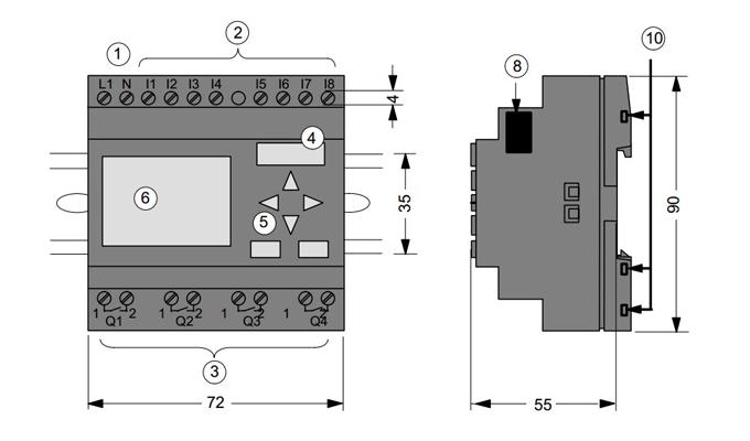 Bộ lập trình PLC LOGO 230RC