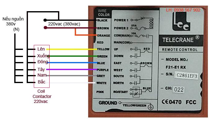 Cách đấu nối, lắp đặt bộ điều khiển cẩu trục - palang