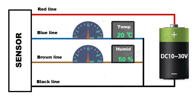 Sơ đồ kết nối điện cảm biến đo ẩm đất.
