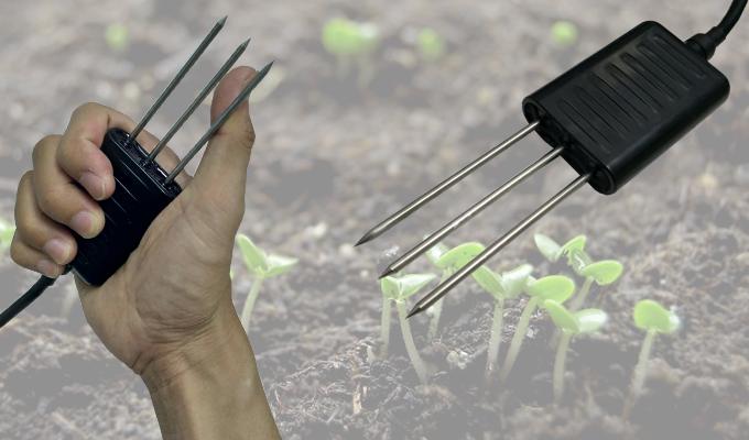 Đo độ ẩm và nhiệt độ trong đất cần thiết cho nghành nông nghiệp.