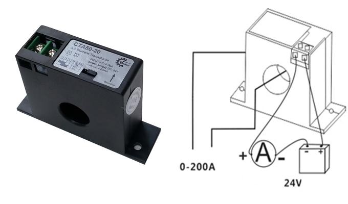 Sơ đồ đấu nối điện ngõ ra 4-20mA.