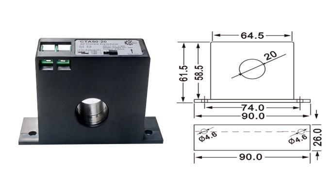 Biến dòng 4-20mA CTA50-20, CTA100-20.