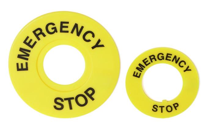 Nhãn nút nhấn emergency stop