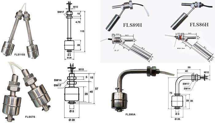 Phao báo mức nước vật liệu inox 304