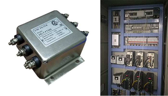 Bộ lọc nhiễu nguồn điện trong tủ điều khiển